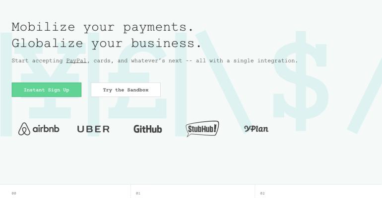 braintree piattaforma pagamenti mobile