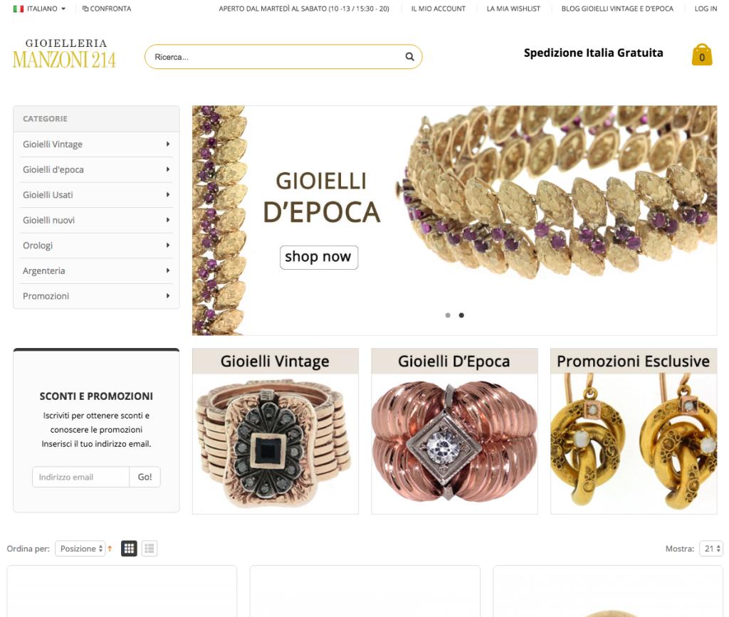 Gioielli e preziosi Vintage e D'epoca di lusso Made in Italy